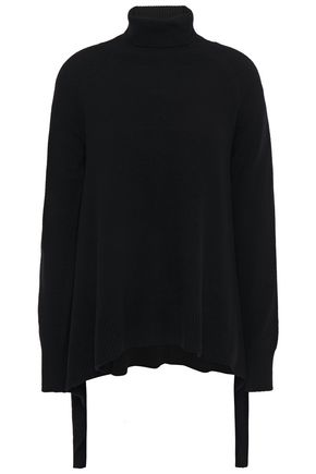 GOEN.J Asymmetric knitted turtleneck sweater