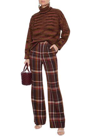 M Missoni Wool Turtleneck Sweater In Brick