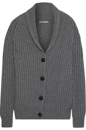 STELLA McCARTNEY Oversized ribbed cashmere and wool-blend cardigan