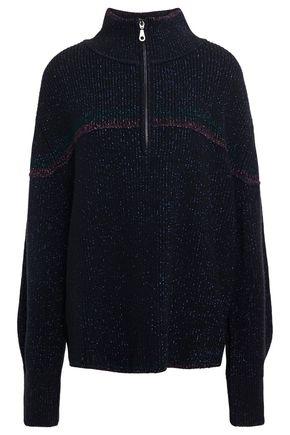 BA&SH Daze metallic ribbed-knit turtleneck sweater