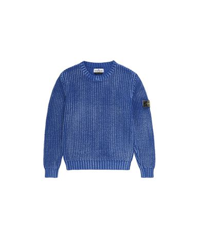 STONE ISLAND JUNIOR 517A3 Sweater Man Periwinkle EUR 287