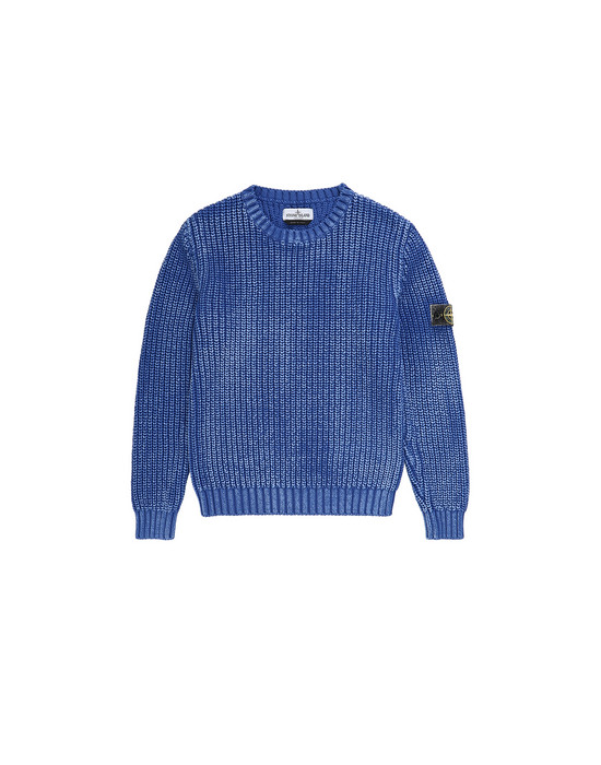 STONE ISLAND JUNIOR 517A3 Sweater Man Periwinkle