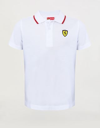 Scuderia Ferrari Online Store - Children's polo shirt in cotton pique - Short Sleeve Polos