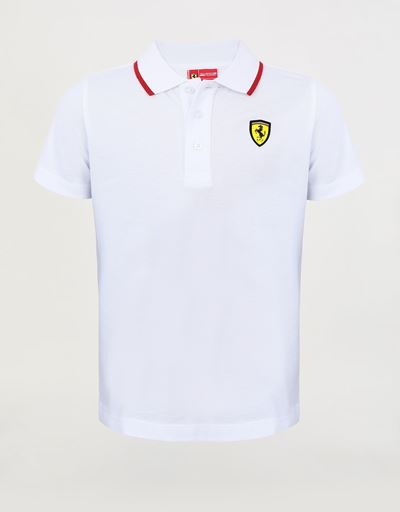 Boys' cotton pique polo shirt