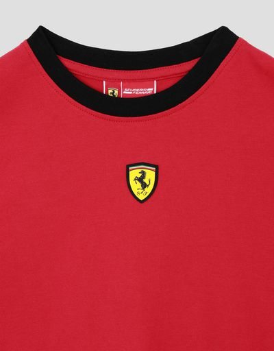 Scuderia Ferrari Online Store - Boys' jersey T-shirt with Italian flag - Short Sleeve T-Shirts