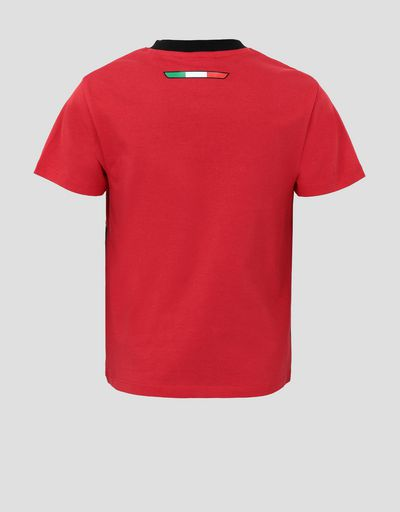 Boys' jersey T-shirt with Italian flag