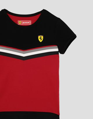 Scuderia Ferrari Online Store - Girls' mini-me jersey T-shirt with contrasting print - Short Sleeve T-Shirts