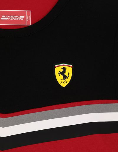 Scuderia Ferrari Online Store - Girls' mini-me jersey T-shirt with contrast print - Short Sleeve T-Shirts