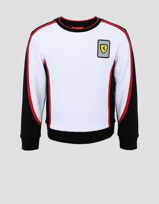 Scuderia Ferrari Online Store - Mini-me Infinity French Terry boys' sweatshirt - Crew Neck Sweaters