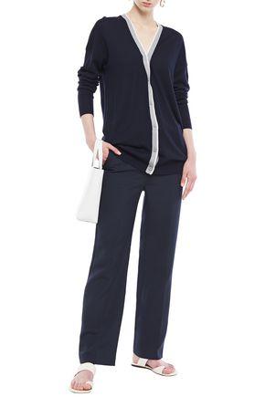 NINETY PERCENT Striped merino wool cardigan