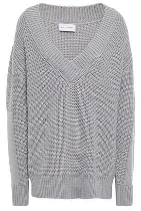 NINETY PERCENT Ribbed merino wool sweater