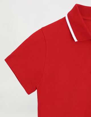 Scuderia Ferrari Online Store - Boys' cotton pique polo shirt - Short Sleeve Polos