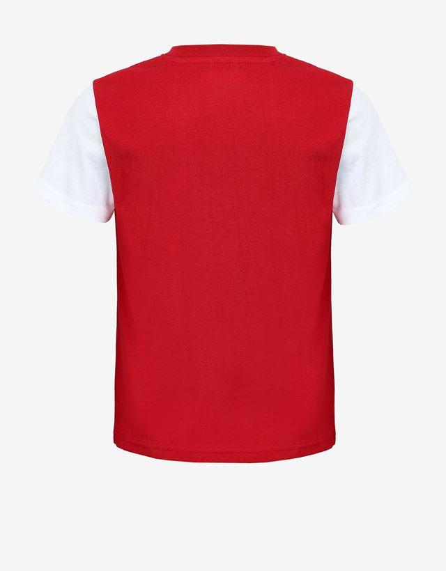 Scuderia Ferrari Online Store - T-shirt garçon en jersey avec drapeau italien imprimé - T-shirts à manches courtes
