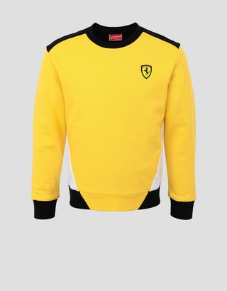 Scuderia Ferrari Online Store - French Terry kids' sweater - Crew Neck Sweaters