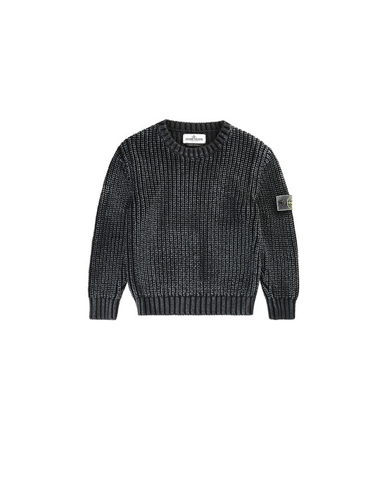 STONE ISLAND KIDS 517A3 Sweater Man Black