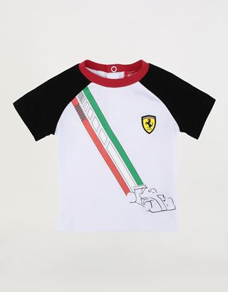 Scuderia Ferrari Online Store - Stretch jersey infant T-shirt - Short Sleeve T-Shirts