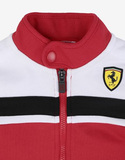 Scuderia Ferrari Online Store - Unisex infant sweatshirt in French Terry with driver's collar - Zip Jumpers