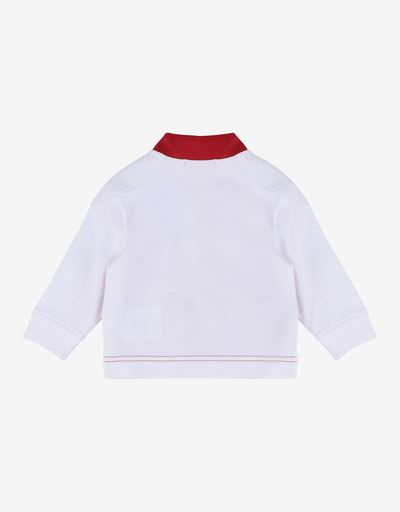 Unisex infant sweatshirt in French Terry with driver's collar