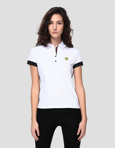 Women's Racing polo shirt with Italian flag