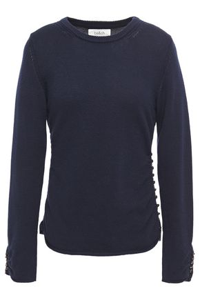 BA&SH Button-detailed wool and cotton-blend sweater