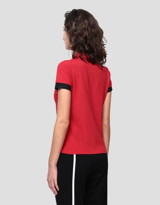 Scuderia Ferrari Online Store - Women's Racing polo shirt with Italian flag - Short Sleeve Polos