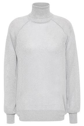 NINETY PERCENT Lamé turtleneck sweater
