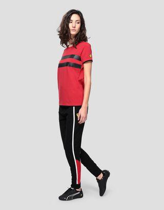 Scuderia Ferrari Online Store - T-shirt femme en jersey avec imprimé caoutchouté - T-shirts à manches courtes