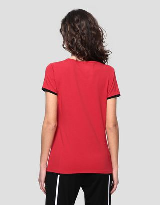 Scuderia Ferrari Online Store - Women's jersey T-shirt with rubberised print - Short Sleeve T-Shirts