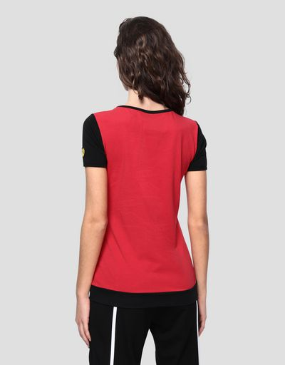 Women's jersey T-shirt with contrasting print
