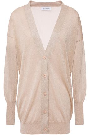 NINETY PERCENT Metallic knitted cardigan