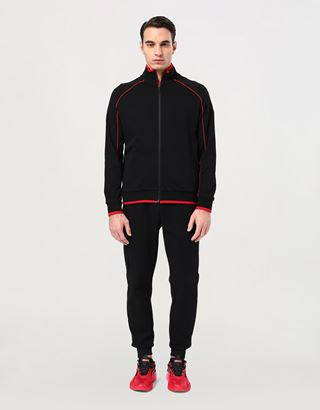 Scuderia Ferrari Online Store - Men's Essential zippered sweatshirt in French Terry - Zip Sweaters