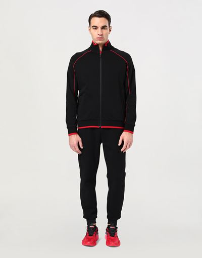 Men's Essential zipped sweatshirt in French Terry