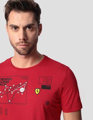 Scuderia Ferrari Online Store - Men's Fiorano circuit T-shirt - Short Sleeve T-Shirts