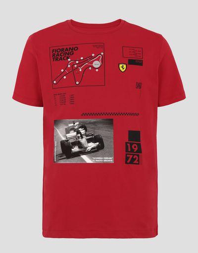 Scuderia Ferrari Online Store - Camiseta de hombre circuito de Fiorano - Camisetas de manga corta