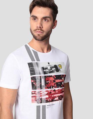Scuderia Ferrari Online Store - Camiseta para hombre monoplaza 248 F1 Winning Circuits - Camisetas de manga corta