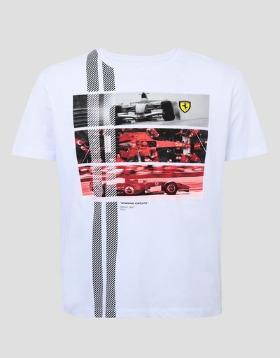 Scuderia Ferrari Online Store - Men's 248 F1 single-seater Winning Circuits T-shirt - Short Sleeve T-Shirts