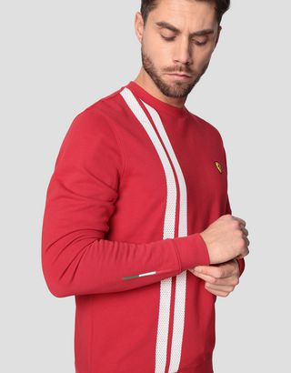Scuderia Ferrari Online Store - Men's Racing sweatshirt in French Terry - Crew Neck Sweaters
