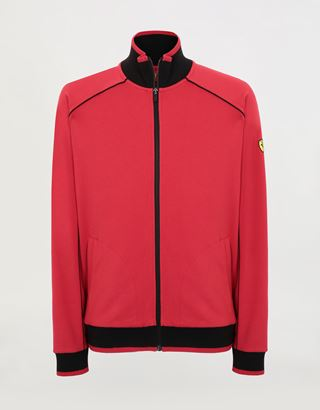 Scuderia Ferrari Online Store - Men's Essential zipped sweatshirt in French Terry - Zip Jumpers