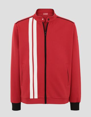 Scuderia Ferrari Online Store - Men's Racing sweatshirt with driver's collar - Zip Jumpers