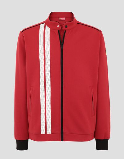 Scuderia Ferrari Online Store - Men's Racing sweatshirt with racer collar - Zip Sweaters