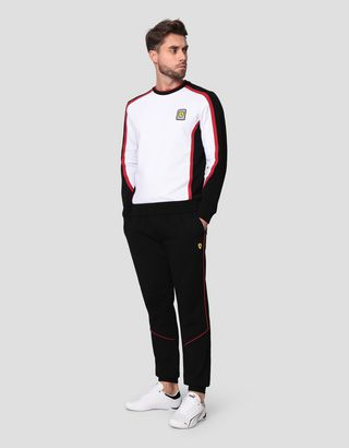 Scuderia Ferrari Online Store - Men's Infinity sweatshirt in French Terry - Crew Neck Jumpers