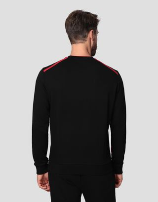 Scuderia Ferrari Online Store - Men's Infinity sweatshirt in French Terry - Crew Neck Sweaters