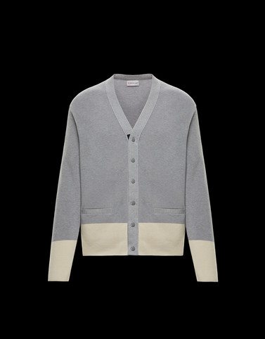CARDIGAN Light grey Knitwear & Sweatshirts Man