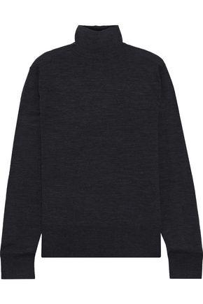 BASSIKE Mélange merino wool turtleneck sweater