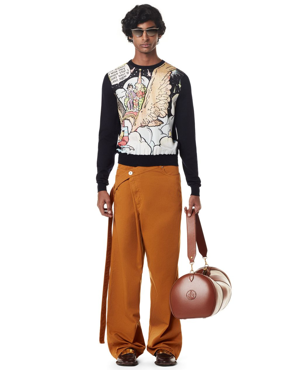 PRINTED WOOL AND SILK SWEATER - Lanvin