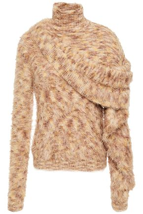 Y/PROJECT Draped marled knitted turtleneck sweater