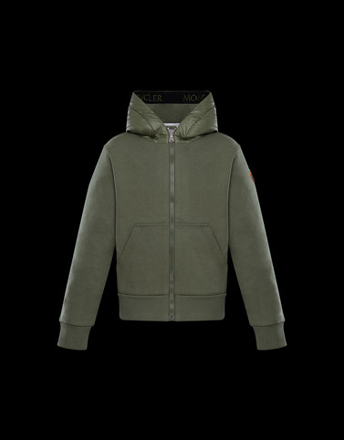 SWEATSHIRT Military green Category HOODED SWEATSHIRTS Man