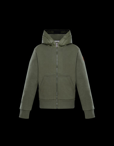 SWEATSHIRT Military green Junior 8-10 Years - Boy