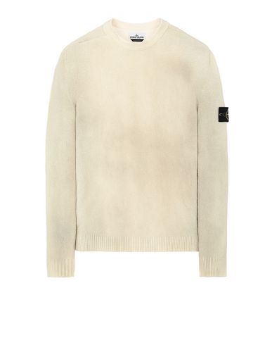 STONE ISLAND 543B7 HAND SPRAYED TREATMENT  Sweater Man Dark Beige USD 245