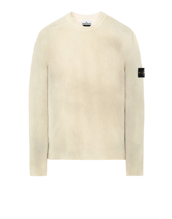 STONE ISLAND 543B7 HAND SPRAYED TREATMENT  Sweater Man Dark Beige